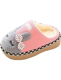 Bambino Pantofole Inverno Bambina Scarpe Caldo Ciabatte Peluche del Fumetto  Slippers 6827c0670d0