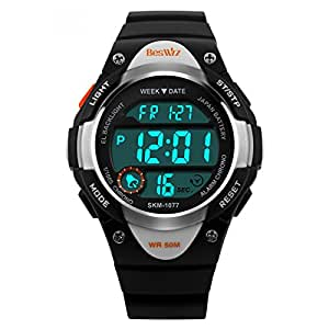 Armbanduhr kinder  Beswlz Sports Kids Hintergrundbeleuchtung LED Digital Alarm ...