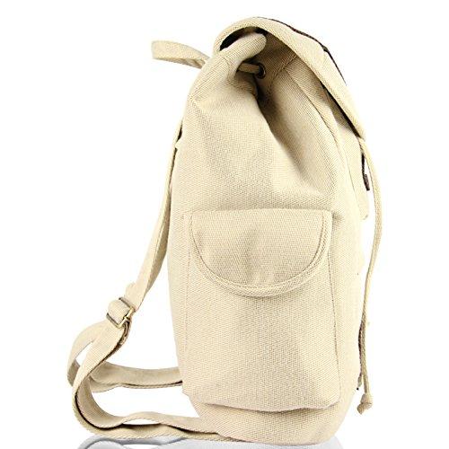 Vento nazionale studentesse zaino borsa a tracolla doppia spalla sacchi grandi capacità nello zaino, marrone Apricot color