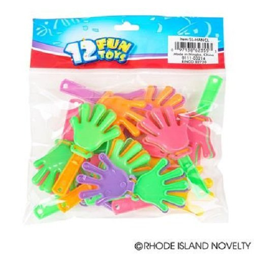 ~ 144 ~ Mini Hand Clappers / Clakkers ~ 3 Long ~ New ~ Party Favors, Noisemakers by RINCO (Hand Clappers Noisemakers)