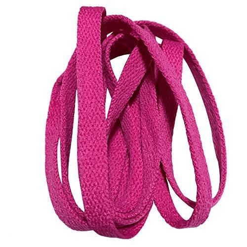 Good.news 1cm Breit Flache Senkel Schnürsenkel Flachsenkel Schuhbänder Polyester Pink 120cm