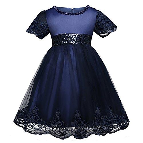 M?dchen Prinzessin Kleid Qunsia Spitze Sequined Hochzeit Taufe Kleid f¨¹r Kleinkind Baby M?dchen (Edel Fancy Dress)