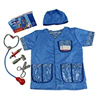 Keptfeet 2019 Newest Child Veterinarian Doctor Role Playing Costume Set -Kids Halloween Fancy Dress Cosplay Costume for 3-6 Years Children