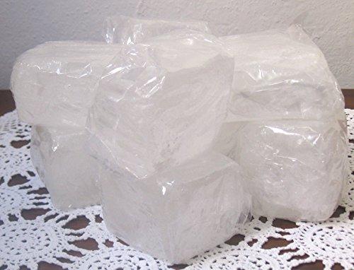 5 Pietre pura allume di potassio, alta qualità levigata peso circa 140-160g