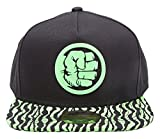 Marvel Comics Incredible Hulk Fist Smash Snapback Cap - One Size | Black/Green