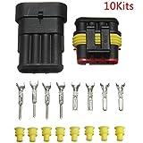 iiniim Kits de 10/202/4Pin Camino sellado impermeable Cable eléctrico Conector Plug