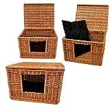 GalaDis 1-19-5 Katzenhaus (60 x 50 x 40 cm) inkl. 1 gepolstertes Kissen/Katzenhöhle / Katzenkorb/Katzenbett / Hundehütte für kleine Hunde/Katzen-Wurfbox/Wurfkiste