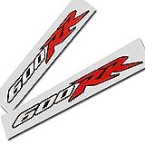 Honda CBR 600 RR Rot Weiß Schwarz Sticker Grafik x 2