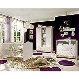 storado.de Babyzimmer Paris Anderson Pine Nelson Eiche 5 TLG. helle Griffe Komplett Set
