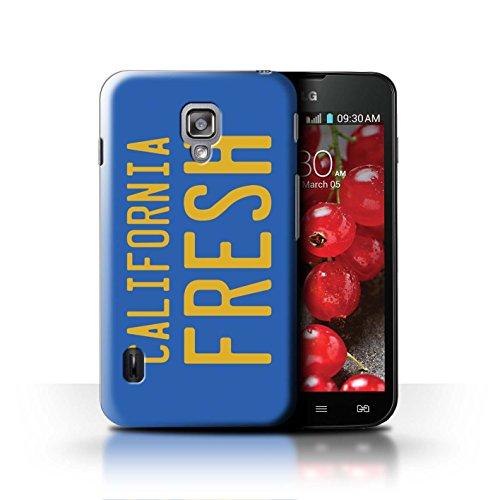 Stuff4® Hülle/Case für LG Optimus L7 II Dual/Kalifornien Nummernschild Muster/Komisch Prinz Fernsehserie Kollektion (Case Ii Optimus Lg Dual L7)