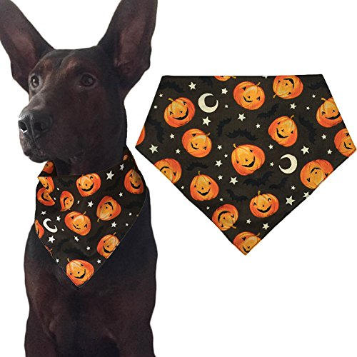 Kostüm Für Freunde Drei Niedliche - KZHAREEN Halloween-Halstuch, Halstuch, Dreieck, Kürbis-Muster, Small, Muster 3