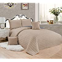 Compressed Two-Sided Color 6 Pieces Comforter Set, King Size - St-002,Off White,