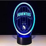 7 Farben ändern innovative Fußball Club 3D Led Nachtlicht für Italien Juventus Club Led Touch Lampe Neuheit Geschenke Usb Lampe