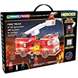 Laser Pegs Fire Truck Light-Up Building Block Playset (280 Piece) The First Lighted Construction Toy To Ignite Your Child's Creativity; It's Your Imagination, Light It Up