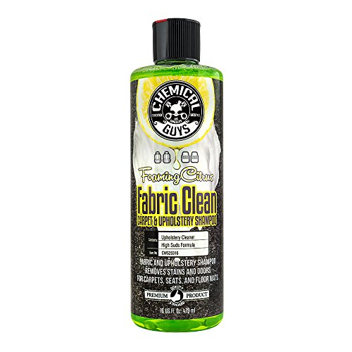 Chemical Guys Foaming Citrus Fabric Clean Carpet & Upholstery Shampoo & Odor Eliminator (16oz) - CWS20316