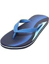 Beach Pantolette Badepantolette Slipper Zehentrenner Sommerclogs Sommerpantolette Strandpantolette für Damen und Herren UNISEX NAVY BLUE Gr. 37-44