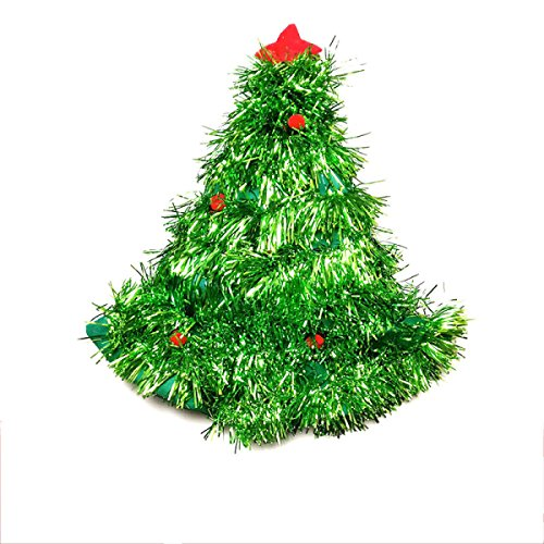 GXYLLDS Plüsch Weihnachtsmütze Santa Hüte Kostüm Für (Santa Green Hut)