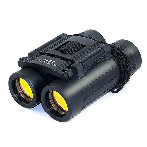 8 x 21 Compact Fernglas Kungix faltbar Binocular mit Reinigungstuch und Tragetasche für die Vogelbeobachtung, Reisen, im Freien, Sightseeing, Klettern