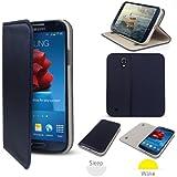 SONIVO Lux Folio Wallet Case Cover Blue Marine pour SAMSUNG Galaxy S4 i9500 / i9505 (2013) Grâce à la Prop-Up Stand, couvercle magnétique, & Auto Veille / Dormir Sensor