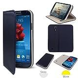 G-HUB Lux Folio Wallet Case Cover MARINEBLAU für SAMSUNG Galaxy S4 i9500 / i9505 (2013) Beinhaltet: Eingebautem Magnetischem Deckel & Schlaf / Wach Sensor