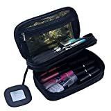 Multifunktional 2 Schicht Make Up Tasche schwarz Kosmetik Make-up-Pinsel Organizer mit Tragegriff...