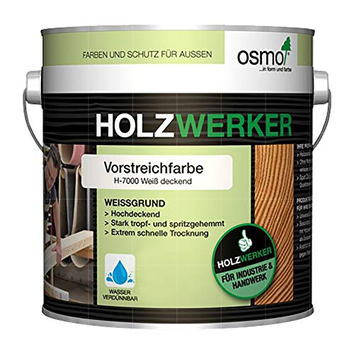 OSMO HOLZWERKER VORSTREICHFARBE - 2.5 LTR (H-700 WEISS DECKEND)