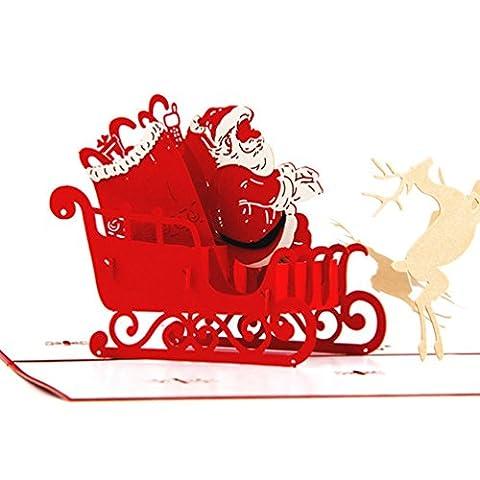NuoYo 3D pop-up-Weihnachtskarte Wache Handbuch mit Umschlag Special zu Weihnachten wünscht,Einsetzbar als Geschenk zum Geburtstag, Abschluss Geschenke, Liebe Zitate,