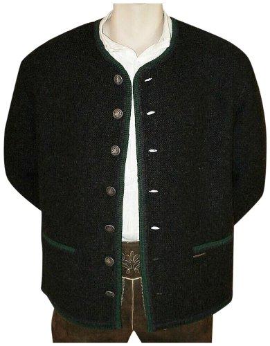 Brown-streifen-wolle-anzug (Trachten Strickweste Strickjacke Woll-Jacke Trachtenjacke Trachtenjanker du.grau, Größe:62)