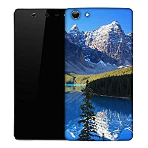 Snoogg White Mountain Designer Protective Phone Back Case Cover For Micromax Canvas Selfie Q348