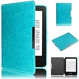 Swees - Cubierta y funda case de PU cuero artificial para el New Amazon Kindle 7th Generación (Octubre 2014) - Con Auto Sleep/Wake Function (No aptos para otros dispositivos Kindle) - Azul