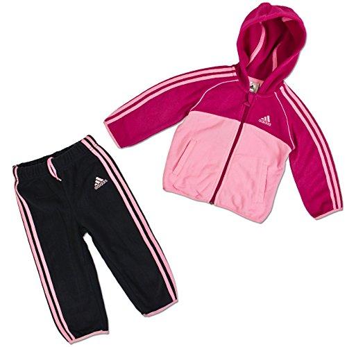 ADIDAS KINDER POLAR FLEECE WINTER BABY JOGGER TRAININGSANZUG JOGGING ANZUG PINK, Größe:92;Farbe:Pink