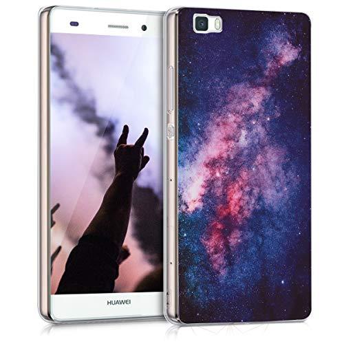 kwmobile Huawei P8 Lite (2015) Hülle - Handyhülle für Huawei P8 Lite (2015) - Handy Case in Rosa Pink Dunkelblau