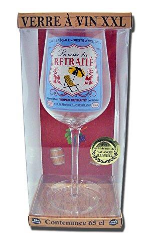 Verre À Vin Geant 25 Cm 65 Cl Le Verre du Retraité