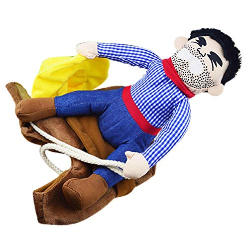 jikaifaquyanhel Hundekostüm Cowboy-Kostüm mit Hut für Zuhause Farben