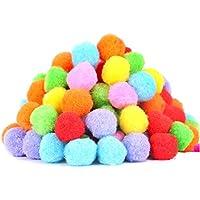 Pelotas de juguete para gatos BIPY de 1,8 pulgadas, pelota de pompones, colores surtidos, paquete de 20 unidades al azar