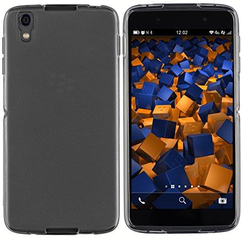 mumbi Schutzhülle für BlackBerry DTEK50 Hülle transparent schwarz