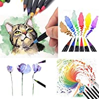 Begorey Soft Tip Painting Brush Refillable Watercolor Markers Calligraphy Pen Markers
