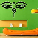 yiyiyaya Indien Bouddha Yeux Stickers Muraux Décor À La Maison Amovible Vinyle...