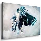 Adler Abstrakt Leinwandbild / LaraArt Bilder / Mehrfarbig + Kunstdruck XXL ab56 Wandbild 80 x 60 cm