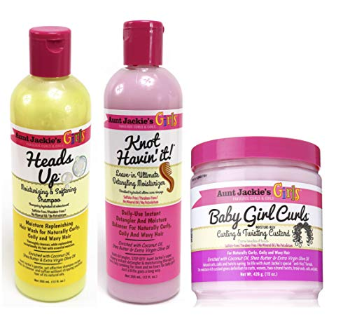 5b02aabe973454 ... Conditioning Masque 426g. Aunt Jackies Girls! Cleanse, Condition &  Moisturise Trio Set of Products for Girls with
