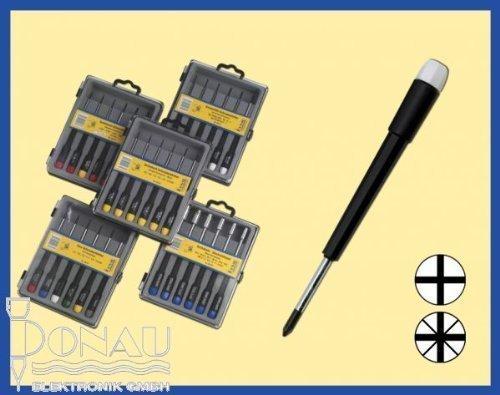 Donau Elektronik Elektronik- u. Feinmechanik Schraubendreher-Set 6teilig Kreuzschlitz Phillips, Kreu (Phillips Typ 0)