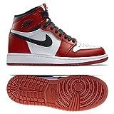 NIKE Jungen Air Jordan 1 Retro High OG BG Basketballschuhe, Weiß/Schwarz / Rot (Weiß/Schwarz-Varsity Red), 36 EU