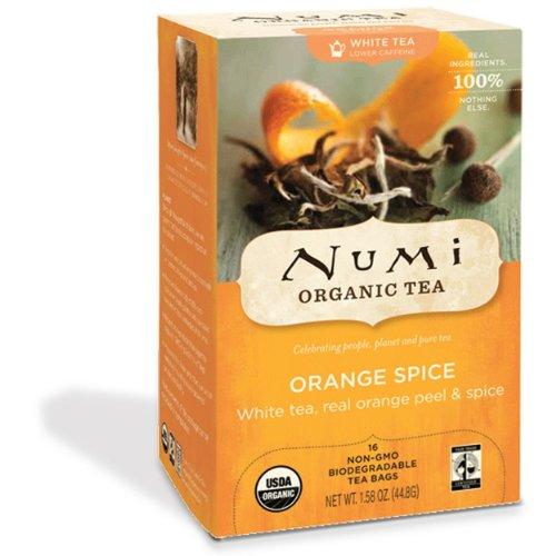 NUMI - Orange Spice - Fairtrade - Kompostierbare Teebeutel - Non GMO - 16 Filter Orange