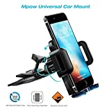#5: Mpow Cd Slot Car Mobile Holder ,Universal Mobile Stand for Car with Adjustable 360 Degree Rotation ,Easy Car Mount for iphone 7/7 Plus/6/6 Plus/5/5s/4 Oneplus 5/3T,Redmi 4/Mi,Vivo,Oppo,Moto,Samsung,Lenovo,Lumia,LG,Htc,Asus,Honor and More up to 6in