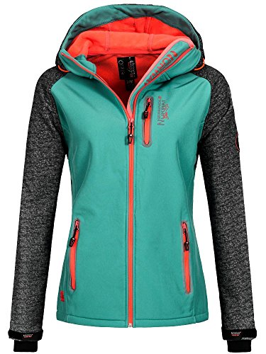 Geographical Norway Damen TAMILIA Lady Sweatjacke, Grün (Lagoon), Medium (Herstellergröße: 2)