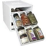 YouCopia Products Spice Stack - Contenitore porta spezie originale con 18 scomparti, colore: Bianco