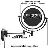 HIMRY-LED-Cosmtica-Espejo-85-pulgadas-10x-aumentos-de-aumento-con-luz-y-brazo-articulado-para-pared-enchufe-espaol-con-o-sin-perforacin-Espejo-360–de-rotacin-con-cara-Doble-Estndar-10x-aumentos-KXD-3