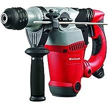 Einhell RT-RH 32 - Pack con martillo perforador eléctrico, 4 brocas, 2 cinceles y maletín, cabezal SDS-plus, 3.5 J, 1250 W, 230 V, color rojo/negro/gris