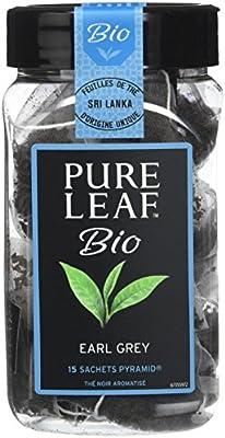 Pure Leaf Thé Noir Bio Earl Grey 45 Sachets (Lot de 3x15 Sachets)
