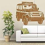 sakkdaull Decoratoin Russian Car UAZ Garage Living CarArt Vinyle Femmes Chambre Décor Wall Sticker 57X50cm